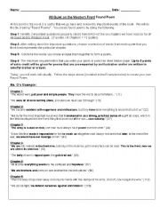 English worksheets: All Quiet on the Western Front: Found Poem