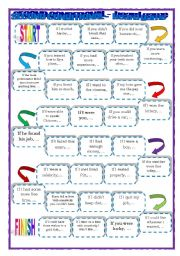 English Worksheet: Conditional Type 2 board game