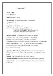 English Worksheets: get somedody to do something