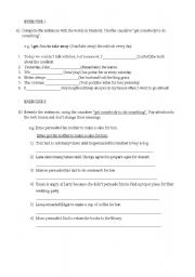English Worksheets: get sb to do sth exercises