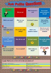 English Worksheets: Ask Polite Questions