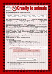 english worksheet cruelty to animals. Black Bedroom Furniture Sets. Home Design Ideas