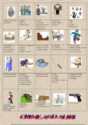 English Worksheets: PICTIONARY: crime and investigation! (Part 1)