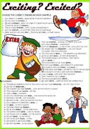 English Worksheet: -ED or -ING?: Participial adjectives