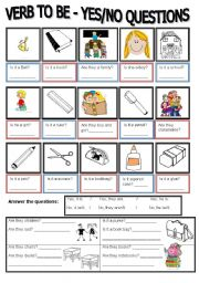 English Worksheets: YES/NO QUESTIONS W/ BE