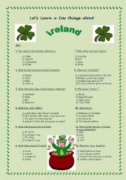 English teaching worksheets: Ireland