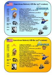 English Worksheets: American history till 20th century
