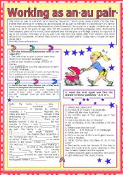 English Worksheets: Working as an au pair