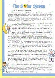 English Worksheet: The solar system