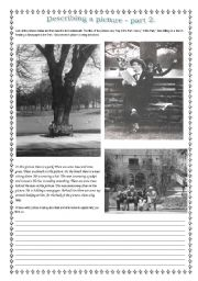 English Worksheets: Decsribing a picture.