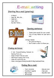 English Worksheet: English e-mail writing