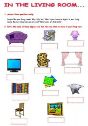 English Worksheets: IN THE LIVING ROOM Part 61