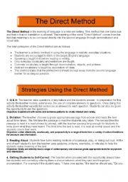 English Worksheets: DIRECT METHOD GUIDE