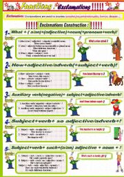English Worksheet: Exclamations