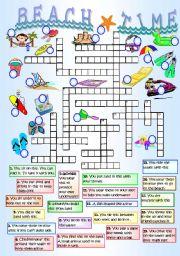 English Worksheet: BEACH TIME