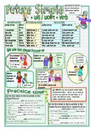 English Worksheet: FUTURE SIMPLE