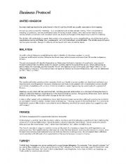 English Worksheets: Business Protocol handout