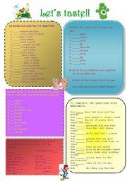 English Worksheet: Let´s taste!!