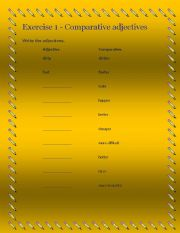 English worksheet: COMPARATIVES AND SUPERLATIVES