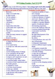 English Worksheets: Writing practice for TOEFL/IELTS exams. Useful expressions and vocabulary. Part XVII.