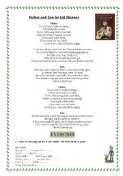 English Worksheets: Father & Son by CAT STEVENS
