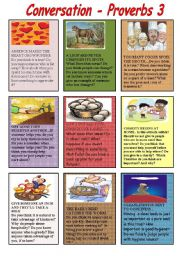 English Worksheet: Conversation Proverbs 3