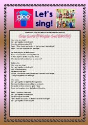 English Worksheet: > Glee Series: Season 2! > SONGS FOR CLASS! S02E06 *.* FOUR SONGS *.* FULLY EDITABLE WITH KEY!