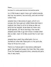 correcting paragraphs