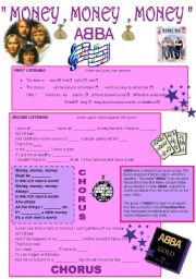 English Worksheet: MONEY , MONEY , MONEY - ABBA