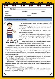 English Worksheets: DAILY ROUTINE (5 PAGES)