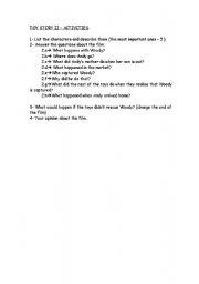 English worksheet: TOY story II
