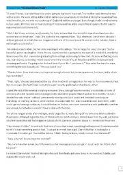 English Worksheet: The devil wears Prada comprehension sheet