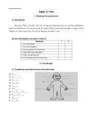 English Worksheets: english 5th year