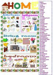 English Worksheet: home