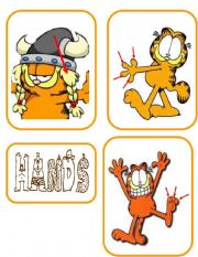 English Worksheet: PARTS OF THE BODY- cards  6/9