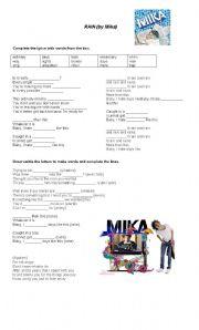 English Worksheet: Rain by Mika - song