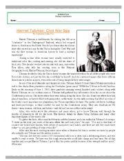 Harriet Tubman Reading Passage | Harriet tubman, Reading passages ...