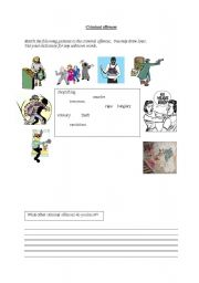 English Worksheets: Criminal offences