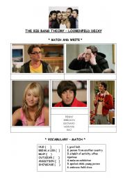 English Worksheet: Big Bang Theory Episode 10 Season 1 Activity