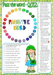 English Worksheets: Pass the word - quiz