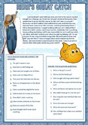 English Worksheets: RERE´S GREAT CATCH