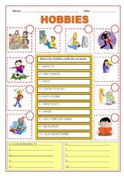 English worksheet: Hobbies