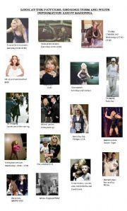 English Worksheet: Madonna�s daily life