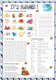 English Worksheet: IT�S SUMMER!