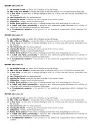 English Worksheets: Idioms Literature REUPLOADED