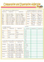 English worksheets: comparative and superlative worksheets, page 3