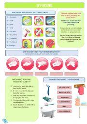 Worksheets Personal Grooming Worksheets english teaching worksheets hygiene hygiene