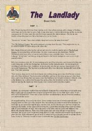 Roald Dahl´s ´the Lanlady´= short story parts 1 and 2, questions and key.