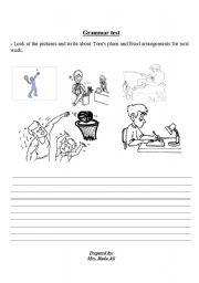 English Worksheets: writing test