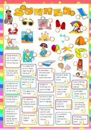 English Worksheet: It´s summer time